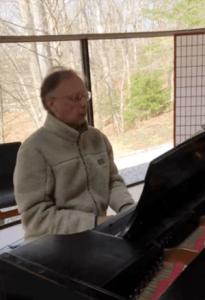 Rev. Ed at the piano