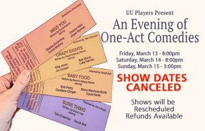 One Act Comedies Canceled