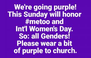Wear Purple on International Women's Day