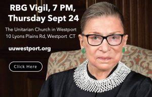 RBG Vigil at UU Westport